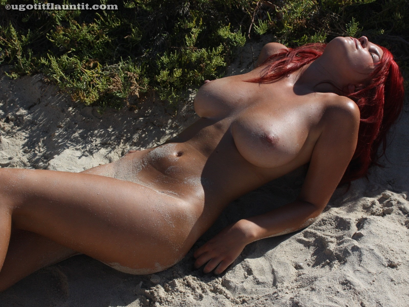 Consider, that redhead nude on beach share