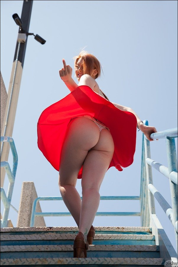 Very valuable sexy redhead girl thong upskirt words