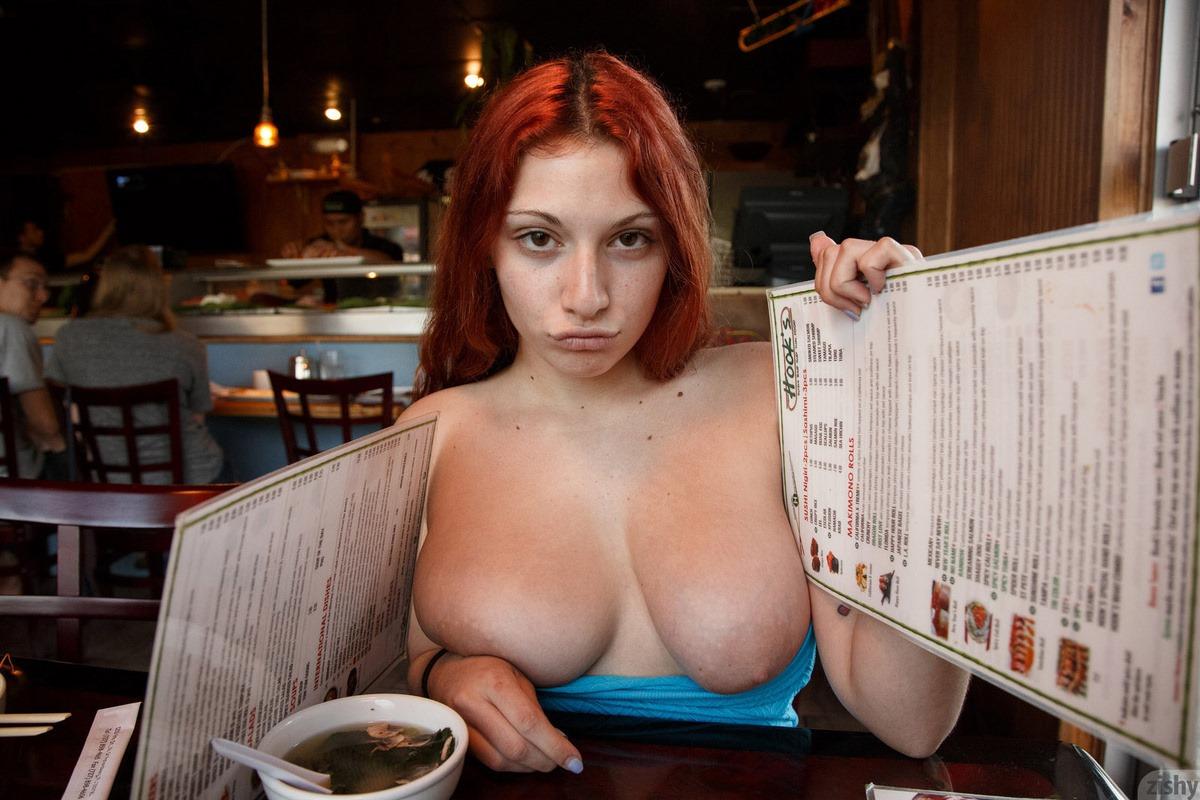 Splendid big tit redhead pictures