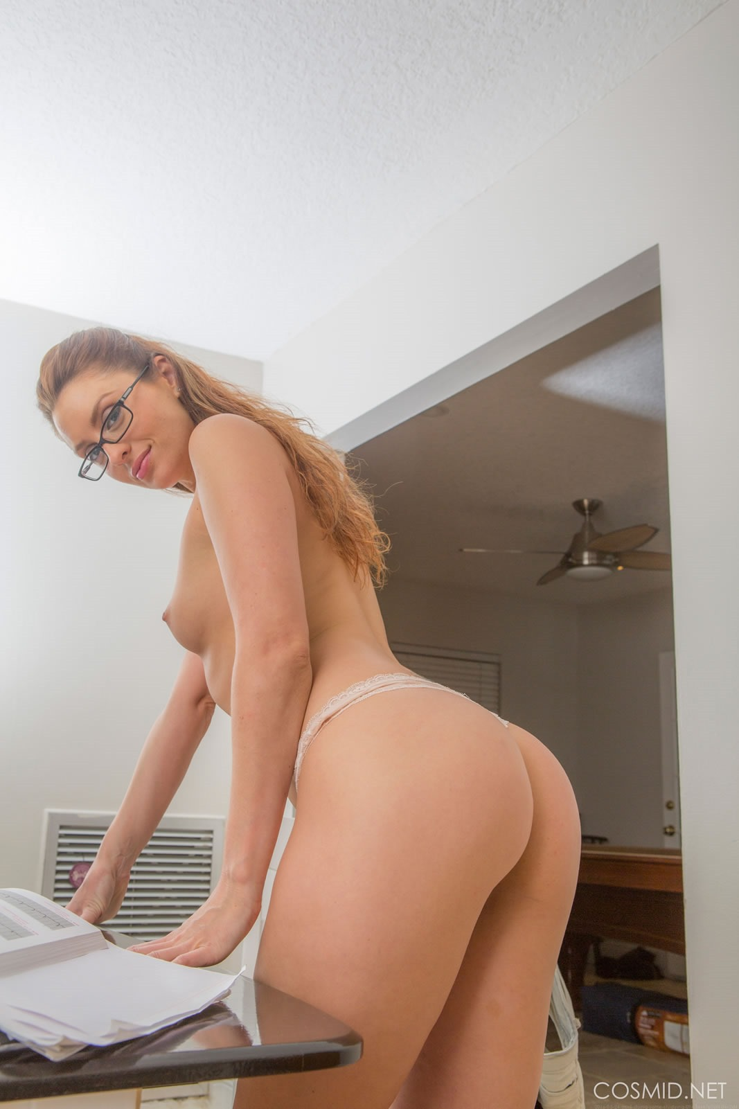 April Sutton Naked with Glasses | Sexy Naked Redhead
