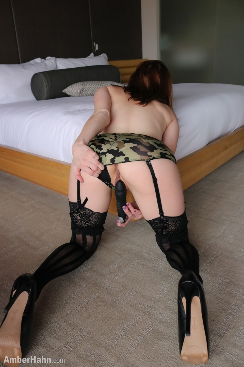 Amber Hahn In The Army Sexy Naked Redhead